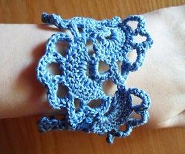 Floral Crochet Bracelet