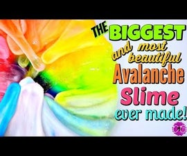 GIANT AVALANCHE SLIME! MOST BEAUTIFUL SLIME EVER!