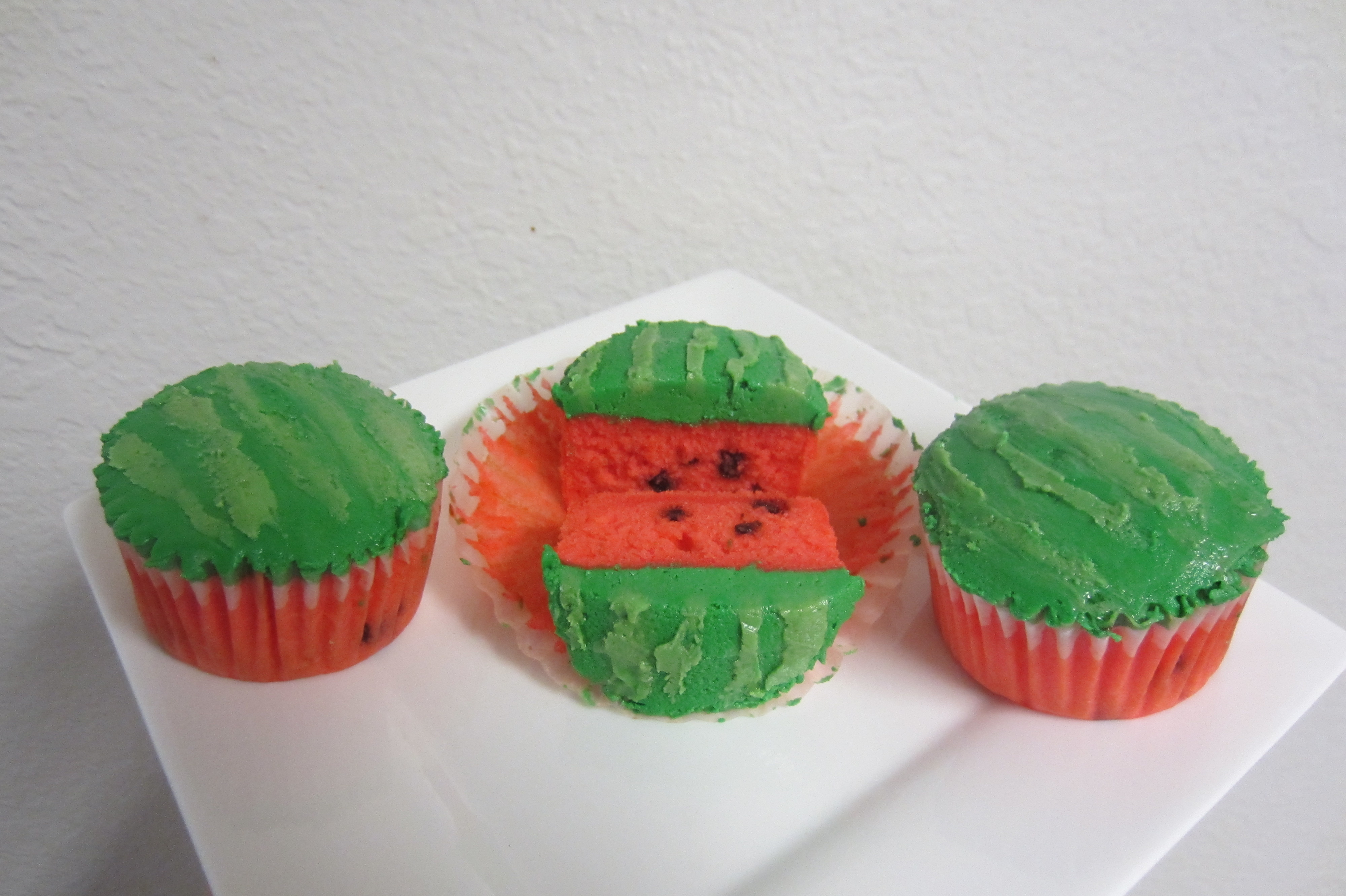 Picture of Finishing the Watermelon Cupcakes
