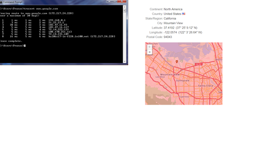 Hacking and Getting Location of a Website (Using CMD)