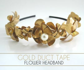 Gold Duct Tape Flower Headband