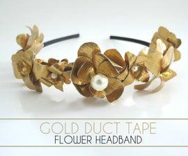 Gold Duct Tape Flower Headband