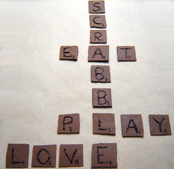 How to Make Chocolate Scrabble Tiles