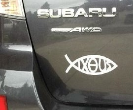 Christian Fish Symbol for a Rental Car