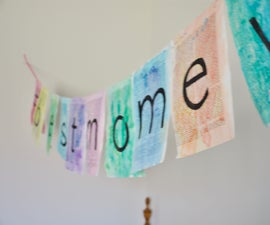 Colourful Vintage Party Banner