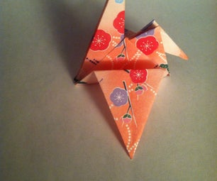 Folding an Origami Crane
