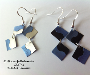How to Make Little Two Colored Square Earrings Using Coffee Pods