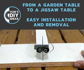 Portable Jigsaw Table From Garden Table