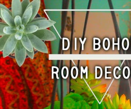 DIY Bohemian Room Decorations