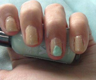 Mint and Nude Nail Art