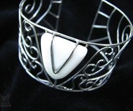 Phoenix to the Nth - Metalsmithed Bracelet
