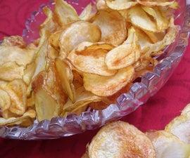 Air Fried Homemade Potato Chips