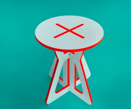 X and O side table