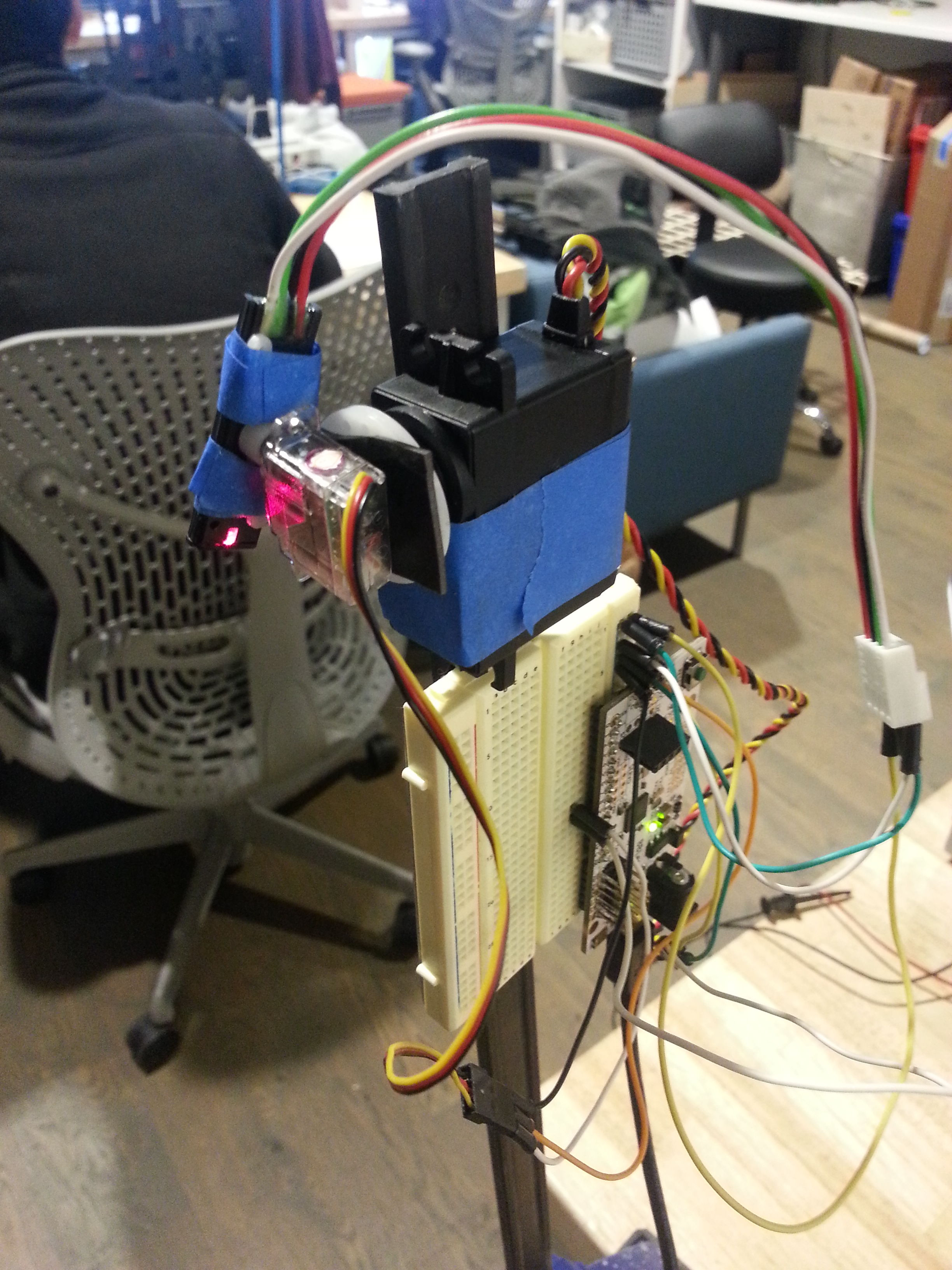 Picture of First Laser Guide Prototype