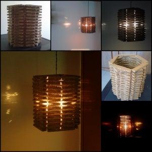 Totally Handmade Cardboard Pendant Lamp. Easy to Make.