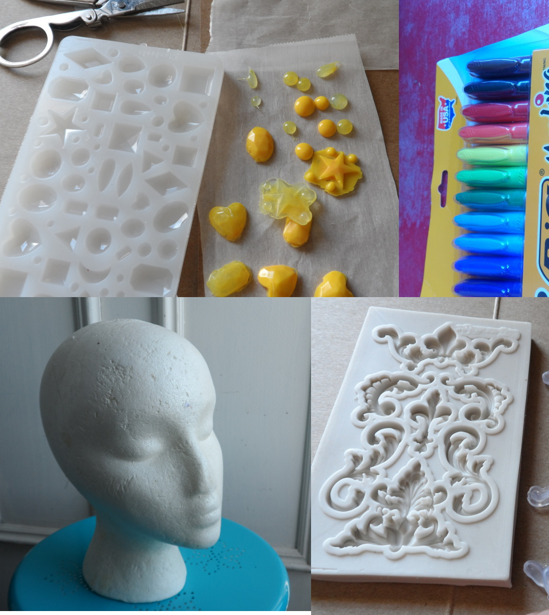 Picture of Make a Head Planter From Hot Glue