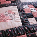 Embroidered and Pieced Quilt