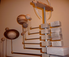 Grand Wooden Orrery