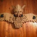 Cardboard Bird Man Costume With Wings