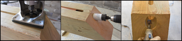 Picture of Make the Horizontal Beam With Water Pipe Assembly