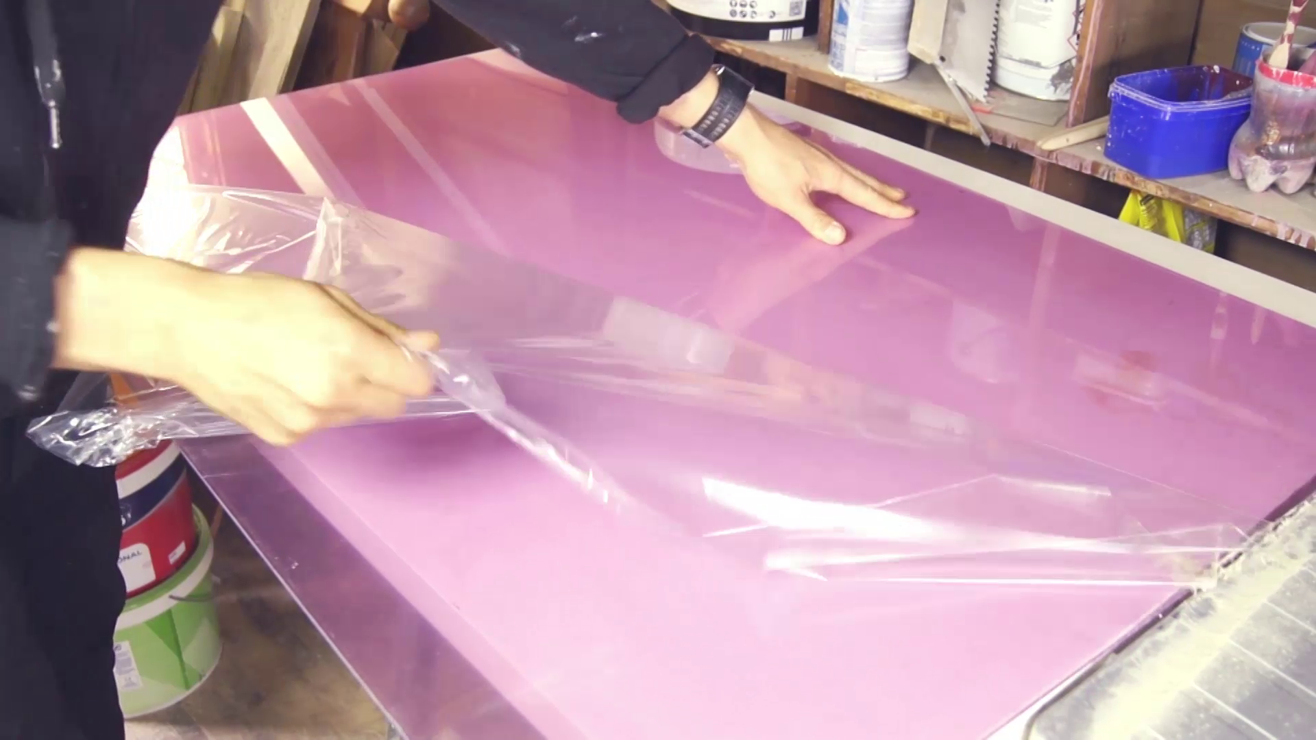 Picture of Preparing the Acrylic