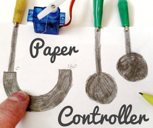 Arduino Paper Controller (Buttons, Slider)