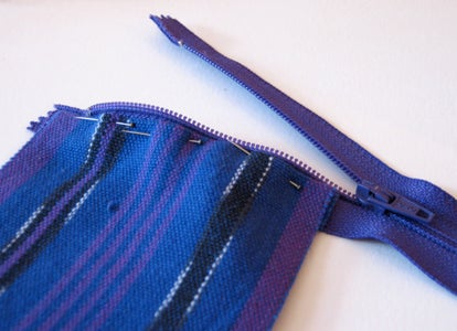 Sewing the Zippers