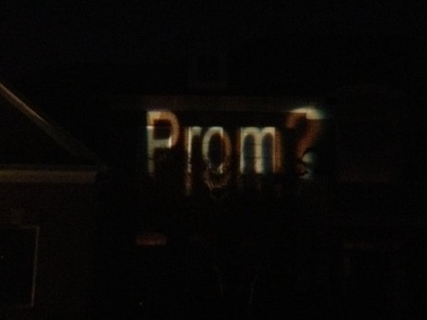 Extreme Way to Ask Girl to Prom/ Propose/ Project Pictures on Your House