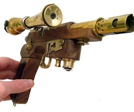 An Airship Admiral's Sidearm. An elegant steampunk pistol.