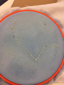 Start Embroidering Your Constellation Embroidering