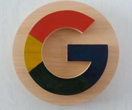 Wooden Google Logo