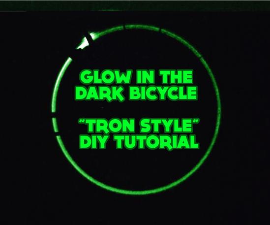 "Glow in the Dark Bicycle ""Tron Style"" - DIY Tutorial"