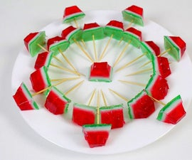 DIY Jelly Watermelon | GUMMY JELLO WATERMELON SLICES