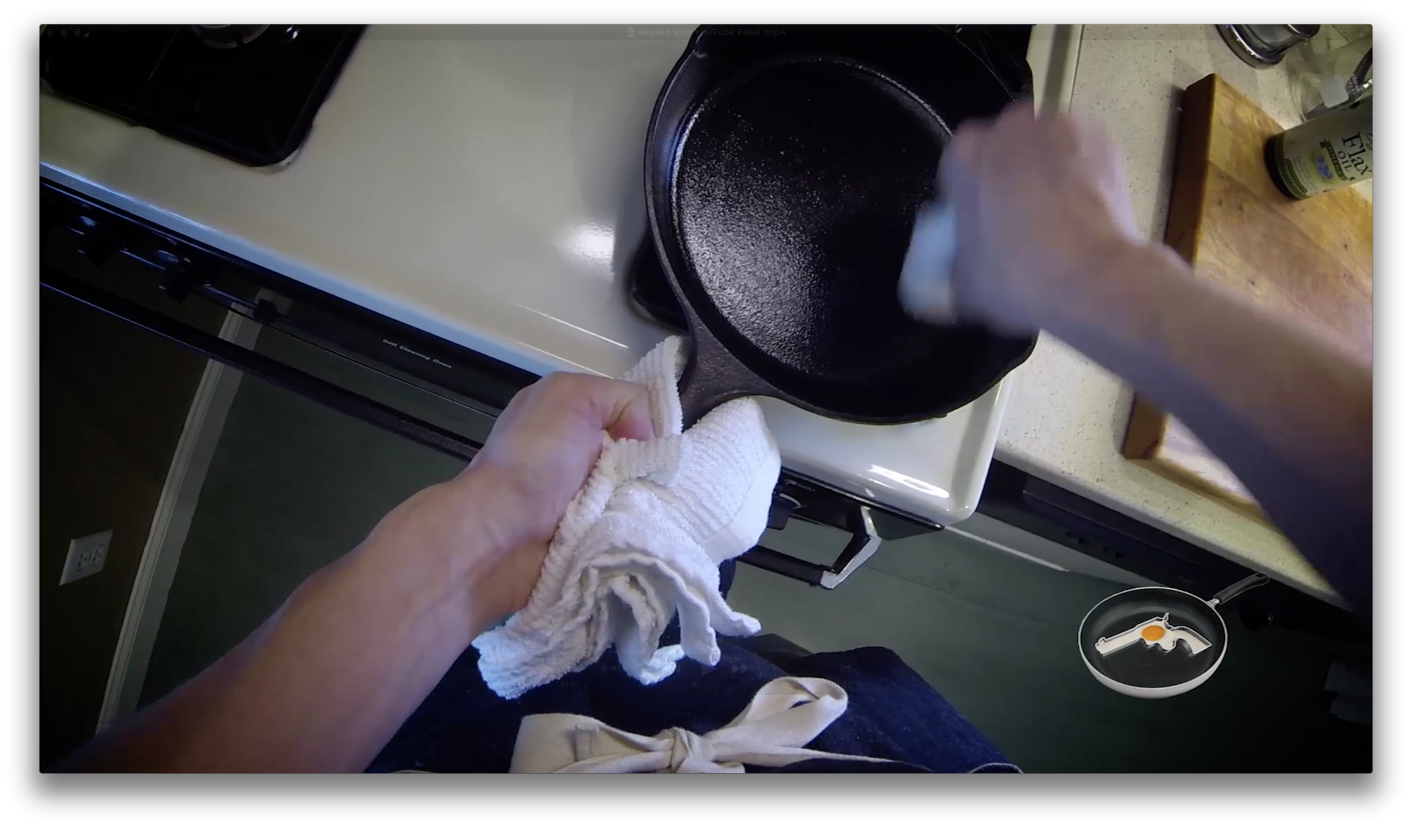 Picture of Wipe the Oil Into the Pan