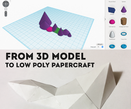 Introduction to low-poly papercraft