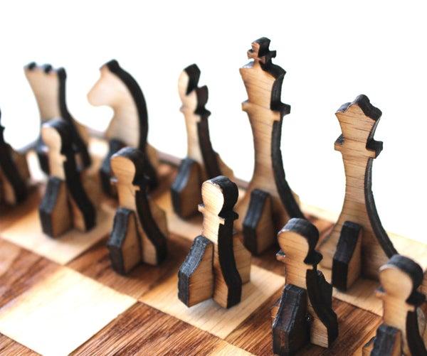 Laser Cut Portable Chess Set