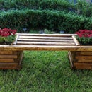Diy Log Bench