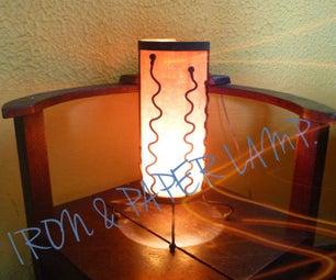 Iron & Paper Lamp.