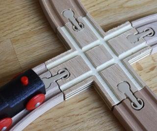 Custom Wooden Train Track X-crossing