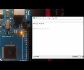 Arduino Text to Morse code