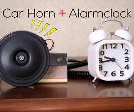 Rig A Car Horn To Your Alarmclock!