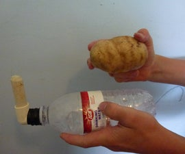 Air-Powered Potato Rocket Launcher and Ammunition