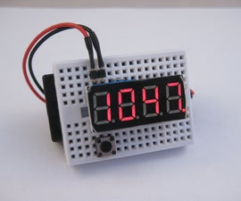 3P4W LED Clock with Temperature Display