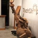 Cardboard Statue of Liberty Bust using 123D Make