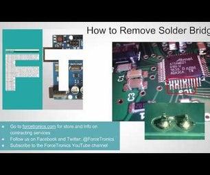 Removing Solder Bridges on Small Pins