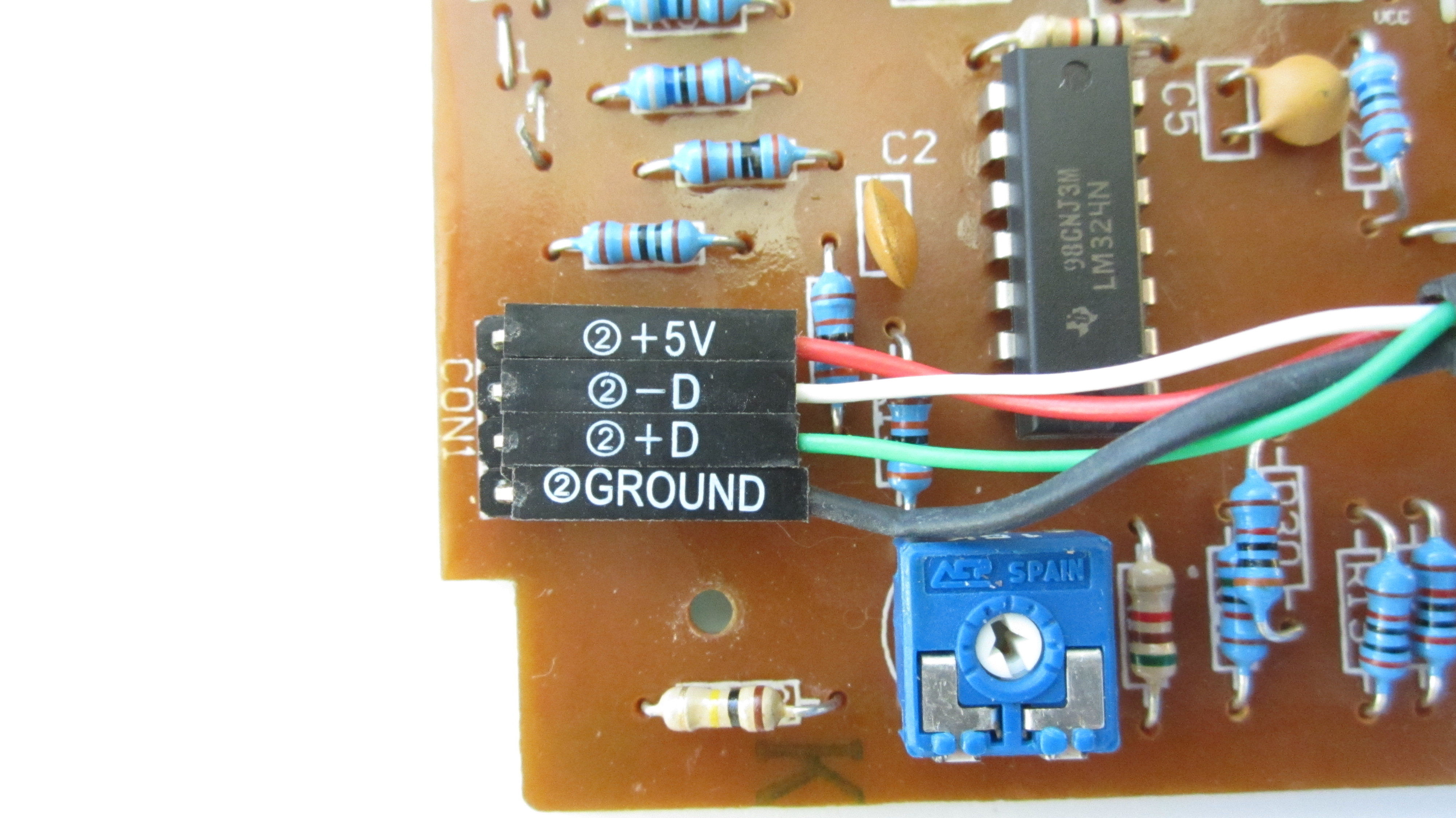 Picture of Connect the Load Cell to the Circuit Board With Extension Wires
