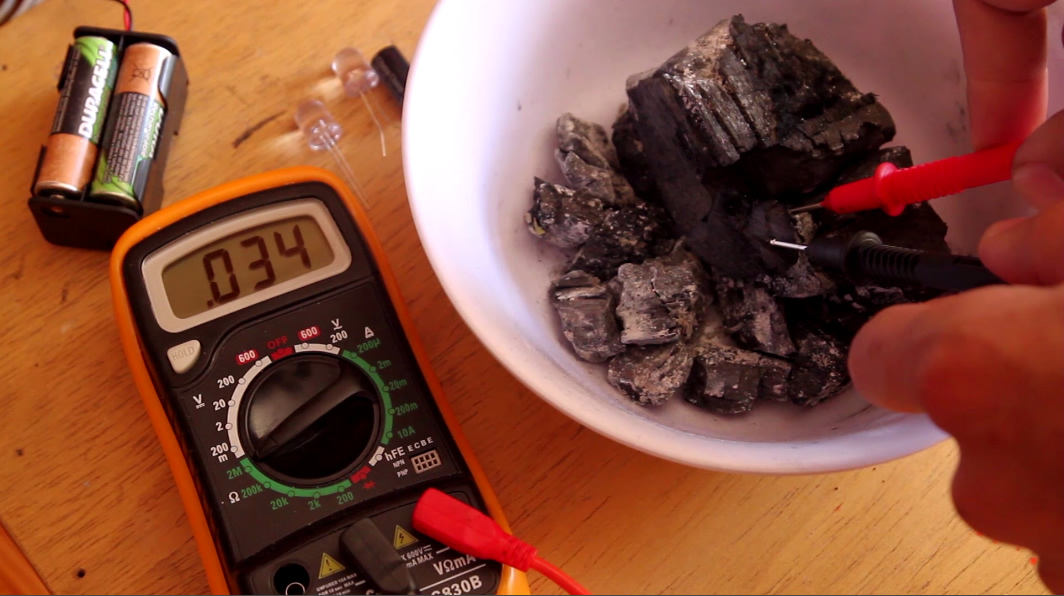 Picture of Step1: Select Conductive Pieces of Charcoal
