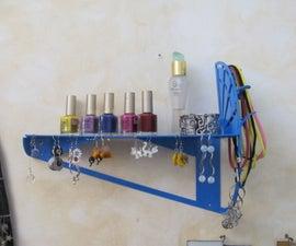 Jewelry holder + perfume shelf