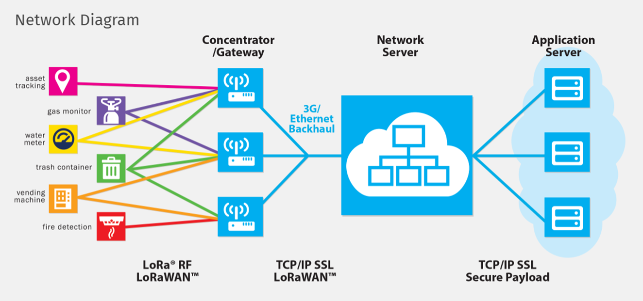 Picture of How the LoRa Network Is Used
