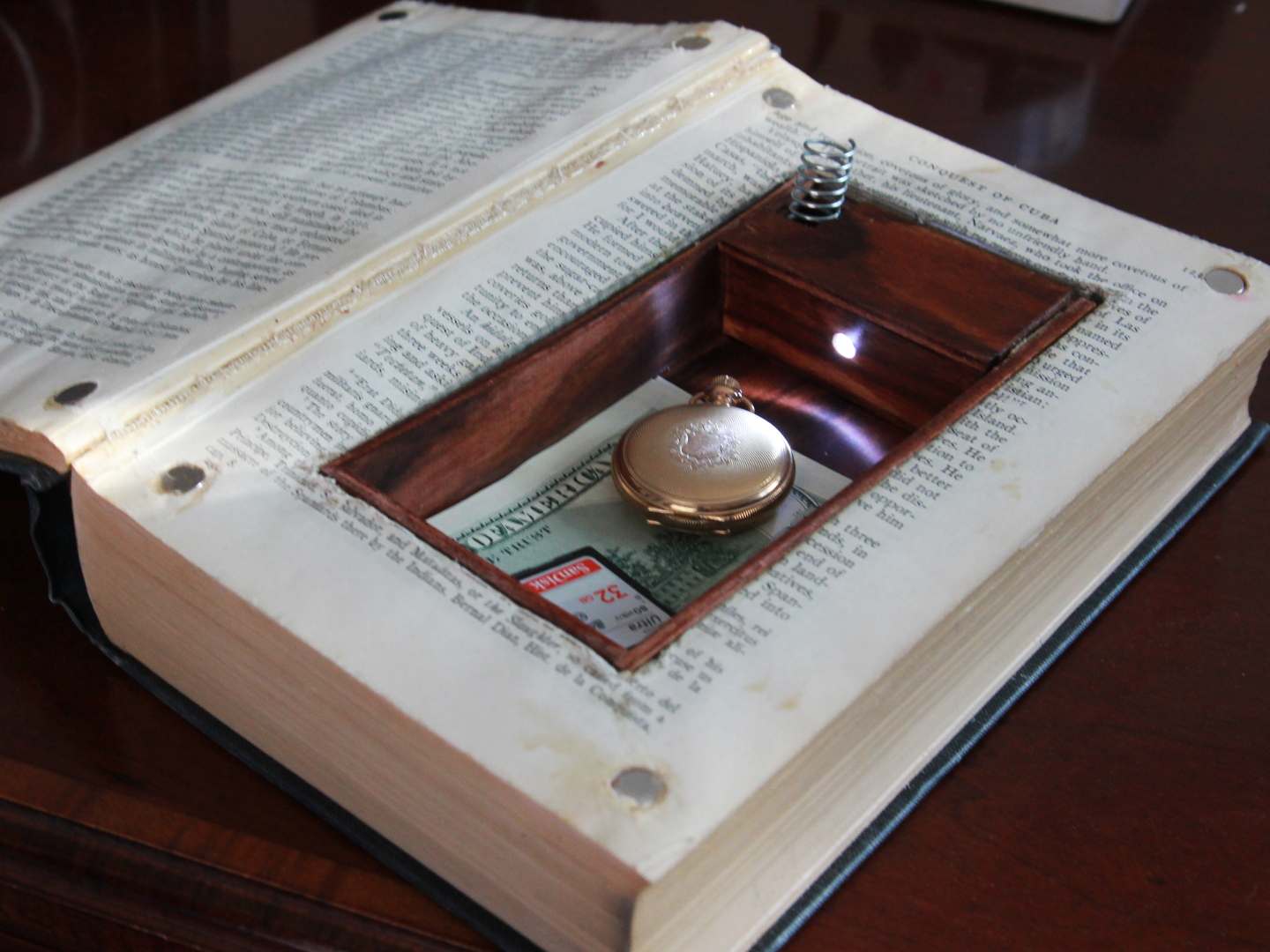 Picture of LED Book Safe W/ Secret Compartment